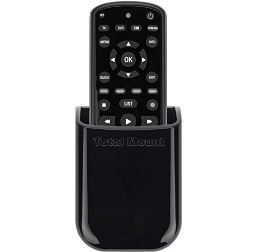 TotalMount Universelle Halterung für eine Fernbedienung TV Wandhalterung Tischhalter Aufbewahrungs Kasten für 1 Fernbedienung