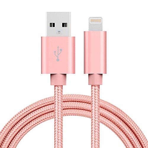 Lightning 8Pin USB Ladegerät Kabel, fone-stuff ®–3A Woven Style Kopf aus Metall, für Mobiltelefone