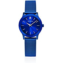 Pierre Lannier - 050J968 - Week-End Ligne Pure - Montre Femme - Quartz Analogique - Cadran Bleu - Bracelet Acier plaqué Bleu