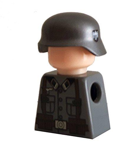 Modbrix 7649 - 10 x Custom Wehrmacht Helm für LEGO® Figuren, olivgrün mit Abzeichen auf beiden Seiten thumbnail