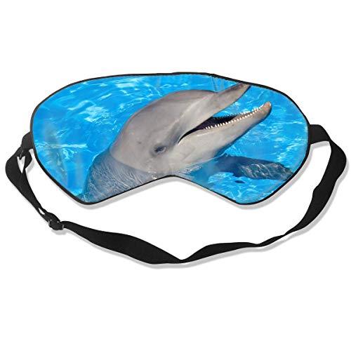 Masken, Masken für Erwachsene, Reusable, Warm Windproof Sleep Mask Dolphin Eye Cover Blackout Eye Masks,Breathable Blindfold Soft Blindfold for Travel - Nap - Shift Work - Meditation White
