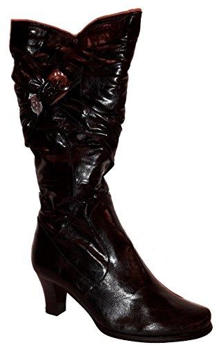 Bottes hiver très hautes, doublées ou non-doublées, chaussures femme, modèle 11064104003248, beige, vert, noir ou gris, différents modèles et tailles. Noir modèle C.