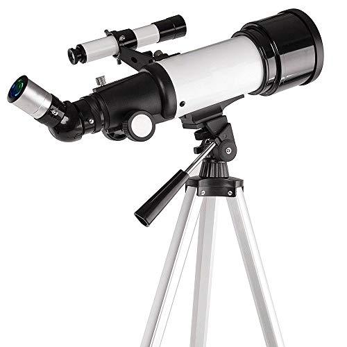 ZAIHW Astronomisches Teleskop-Teleskop-Refraktor-Teleskop mit Aluminiumlegierung Fotostativ Astronomie-Teleskope für Anfänger, Anfänger und Anfänger
