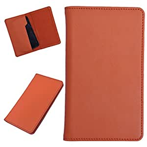 DCR Pu Leather case cover for Karbonn A7 Star (orange)