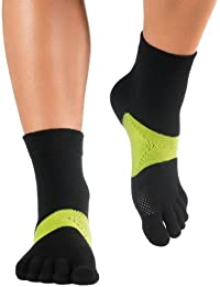 Knitido Marathon TS Chaussettes à doigts, Size:UK 9-11;Colours MTS:black / green