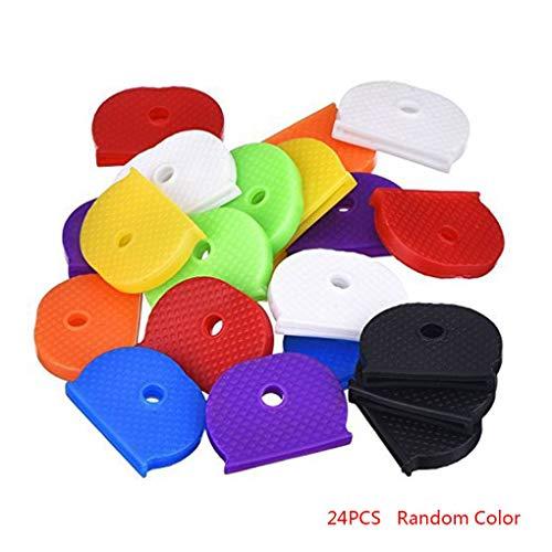 Gankmachine 24X Universal-Gummihalbrund Tastkappen Solid Key-Kopf-Abdeckung Shell Unisex Geschenk zufällige Farbe