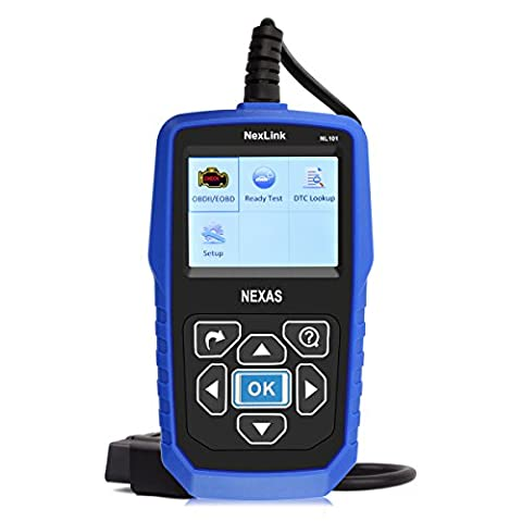 NexLink NL101 OBD2 Diagnostic Scanner With O2 Snensor Test, New