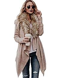 5d0b00a9bc2c WanYangg Cardigan Manteau Femmes Mode Automne Hiver À Manches Longues en  Tricot Gilet Pulls Manteau D