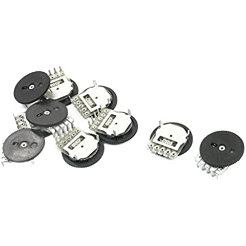 10pcs C Tipo 10K Ohm 14mm placa redonda Potenciómetros resistencia variable