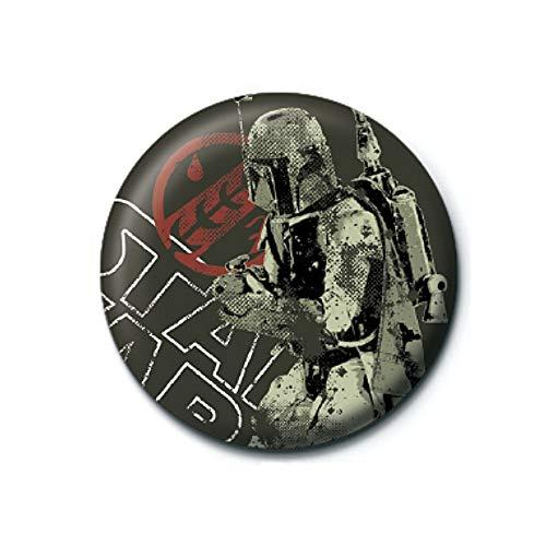 Pritties Accessories Echte Star Wars Boba Fett Distressed Taste Abzeichen Stift Retro Lucasfilm