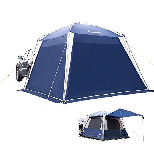 KingCamp Vielseitig raum wasserdicht Feuerbeständiges, atmungsaktives SUV Campingzelt für 5 Personen, 3 Jahreszeiten