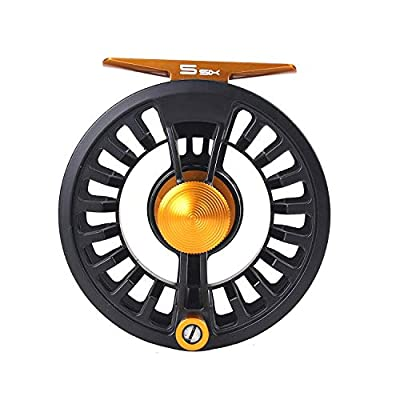 MAXIMUMCATCH Tail Fly Fishing Reel Light Weight Large Arbor Teflon Disc with CNC-machined Aluminum Alloy Body 5/6 7/8wt by Maximumcatch