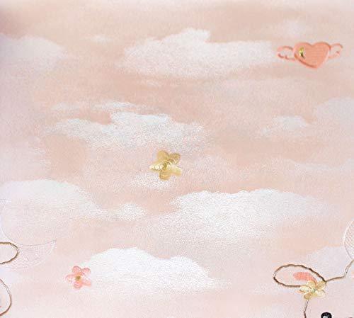 Kids Room Tapete Cartoon Stickerei Wandtuch Junge Mädchen White Cloud Bunny Cubs Blume Ab-version Seamless Wandtuch Teen Powder Rabbit