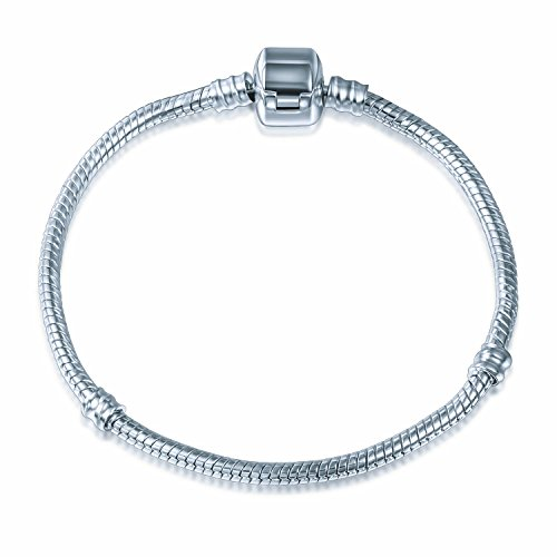 A TE® Armband Bead Clip Charms Trägerelemente 3 Size 18CM/20CM/21CM #JW-B00 (18)