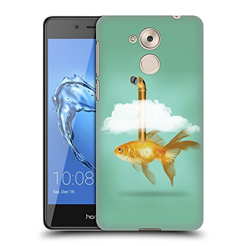 Periskop Goldfisch Fisch Ruckseite Hülle für Huawei Honor 6C Pro / V9 Play (Tasche Periskop)