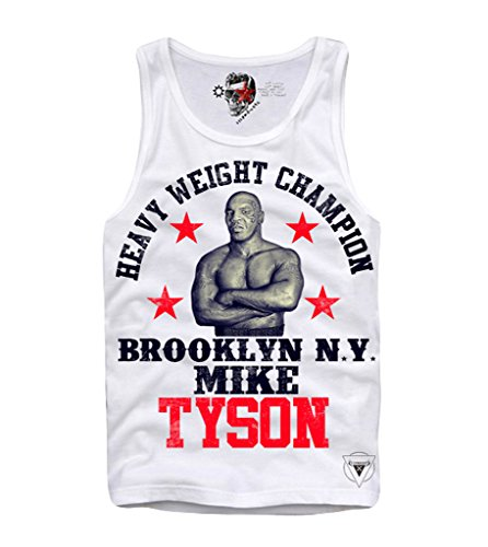 E1SYNDICATE TANK TOP SHIRT MIKE TYSON HEAVYWEIGHT BOXING CHAMP S-XL (Heavyweight Baumwolle Top Tank)