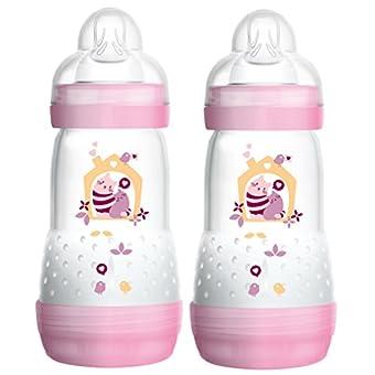 Mam 99921522 Anti-Colic Baby Bottle 260 ml 2-Pack for Girls