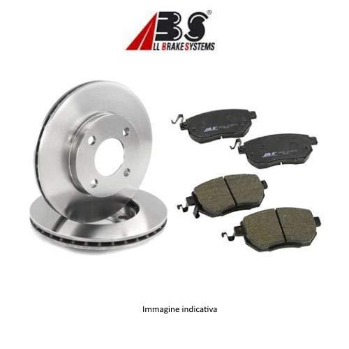 Kit 2 dischi freno posteriori + Kit 4 pastiglie freno posteriori ECP (Abs) Ecommerceparts 9145375042024