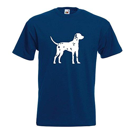 KIWISTAR - Dalmatiner Dalmatinac Hund T-Shirt in 15 verschiedenen Farben - Herren Funshirt bedruckt Design Sprüche Spruch Motive Oberteil Baumwolle Print Größe S M L XL XXL Navy