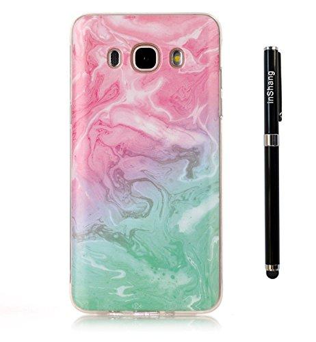 inShang Samsung Galaxy A5 (2016) coque étui pour téléphone portable, Anti Slip, ultra mince et léger, étui rigide fait dans le matériel de TPU, housse Mate9 coque,marble pattern+ Qualite inShang Logo Pens Haute Stylet capacitif
