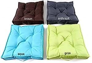 Comodi cuscini da giardino, con 5punti di trapuntatura, cuscini da lounge, spessore 7cm, con maniglia, 40x 40cm, da esterno, imbottiti, per sedie, tipo 333