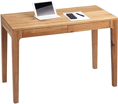HomeTrends4You 611122 Schreibtisch / Sekretär / Konsolentisch Kona, Echtholz Wildeiche massiv geölt, mit Schubladen, 110x55cm, Höhe 76cm
