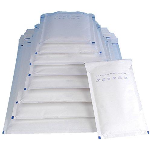 7 Umschläge 8 1 7 2 3 X (20 Luftpolsterversandtaschen Luftpolstertaschen Gr. G/7 weiß ( 250 x 350 mm ) DIN A4)
