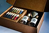 DO YOUR GIN® - Komplettes Gin Set - Gin selber-machen - 12 Hochwertige Botanicals in schönen Gewürz-Flaschen - Perfektes Geschenk für Männer und Frauen - Gin-Baukasten - 10 Verschiedene Gin Gewürze