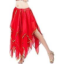 YuanDian Ropa Danza Moderna Danza Del Vientre Alta Falda de Hendidura Swing Larga Gasa Falda Actuaciones Falda
