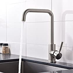 VAPSINT® Excellent In Value And Use Single Handle Single Hole Brushed Nickel Monobloc Mixer Kitchen Taps, Kitchen Taps Faucet