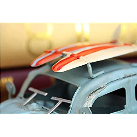 GYN Creativo hierro forjado regalos de coches coche clásicos retro (rojo, amarillo, azul) , blue