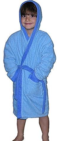 Peignoir enfant, taille 8 ans, bleu