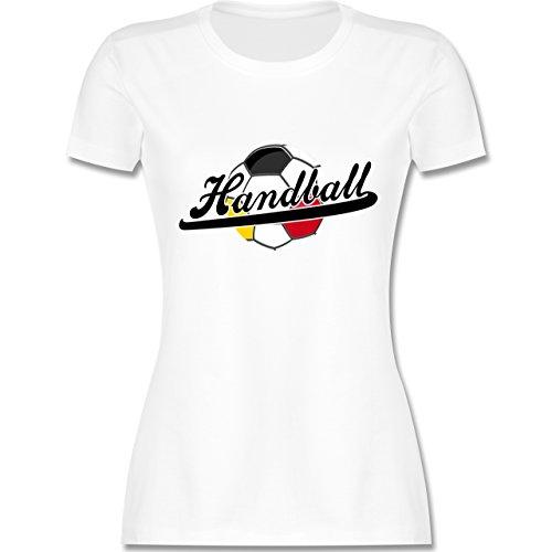 Handball WM 2019 - Handball Deutschland - XL - Weiß - L191 - Damen T-Shirt Rundhals