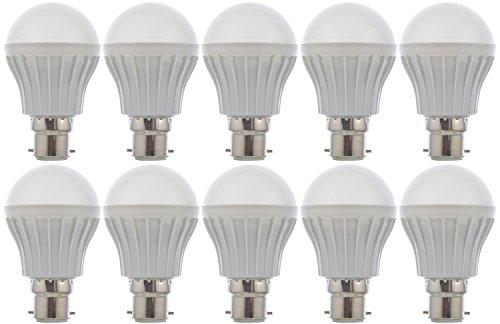 RAINZ GOLD Microfiber LED Bulb Pack of 10 – (White, 5 Watts)