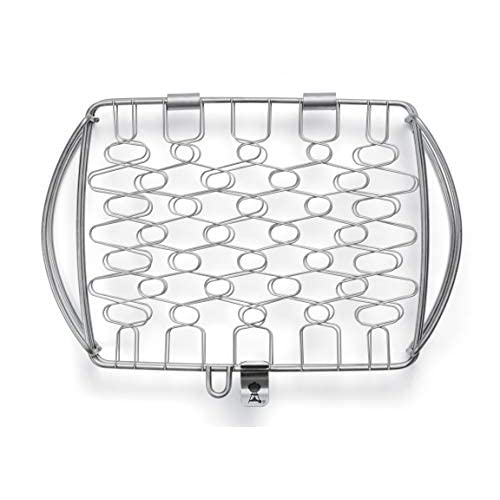 Weber Basket, Small, Stainless Steel, fits Gas Q 1000 Series and up and 37cm Charcoal Grills and up, Mixed