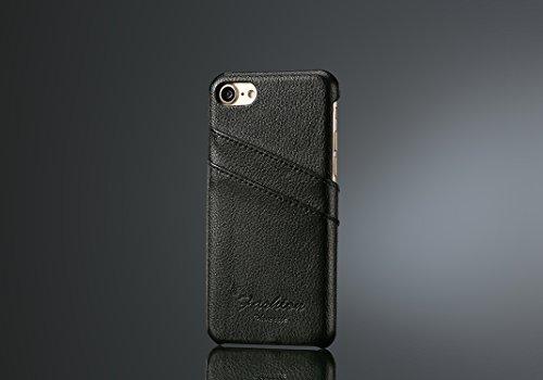 iPhone 8 Hülle modern PU Ledertasche Schutzhülle Slim case backcover mit Kartenhalter iPhone 8 Panzerglas, 2 Stück …