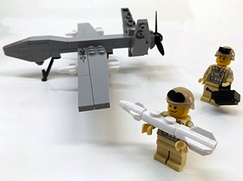 Modbrix 2147- ★ US AIR FORCE Drohne MQ-9 Reaper inkl. custom US ARMY Special Forces Soldaten aus original Lego© Teilen ★ - 2
