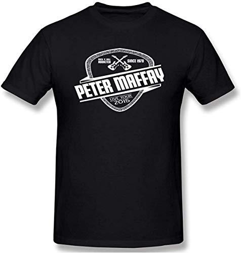 Men Peter-Maffay Rock and Roll 1970 Fashion Black T Shirt with Short Sleeve for Men XXXL