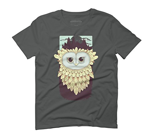 Owl Men's Graphic T-Shirt - Design By Humans Anthracite