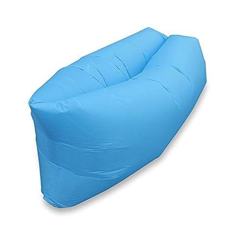 Escomdp Intérieur ou extérieur Air couchage Canapé lit gonflable Air Chaise portable étanche Compression Sacs pour le camping.