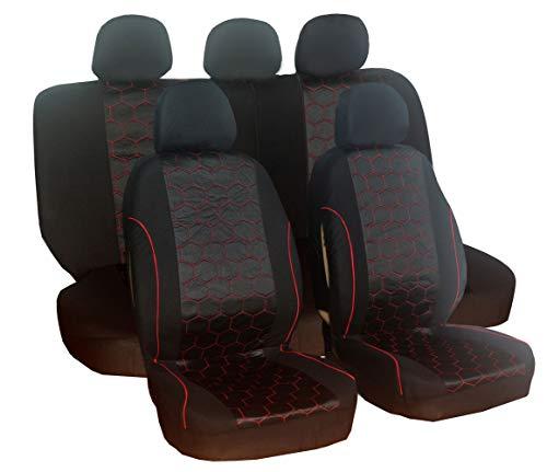 Coprisedili per auto Set Sedia Auto Accessori Custodia Nero per CAPTUR CLIO Duster KADJAR KOLEOS modalità Altea EXEO Leon SC ST X