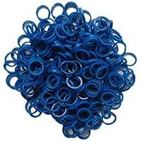 "Dentosmile Orthodontic Colour Elastics | Dental elastics| Pack of 100 Pcs (Blue 1/4"" - 3.5 Oz)"