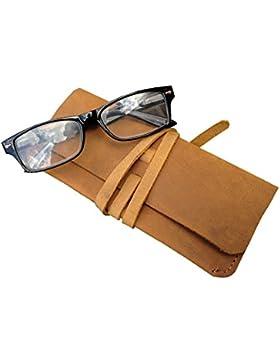Vintage envejecido funda de piel Funda para gafas/Pouch Old Skool diseño