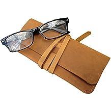 Vintage Cuir vieilli étui à lunettes pochette Old ... 7d2e6f0b065b