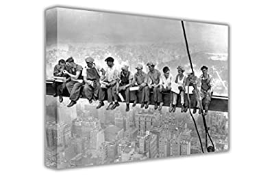 Iconic Lunch Atop A Scyscraper Black And White Nostalgic Photo Large Canvas Wall Art Pictures Landscape Prints Home Decoration Picture Room DÉcor - inexpensive UK light store.