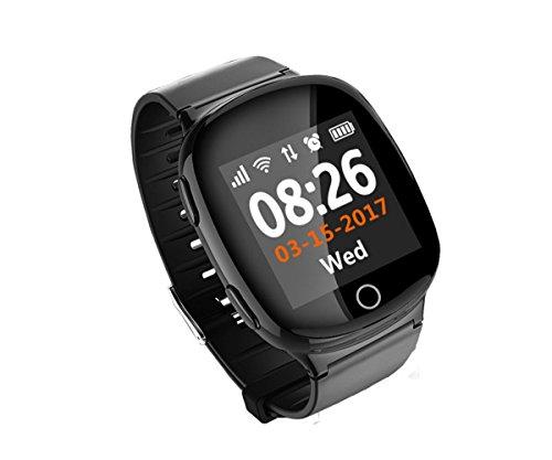 ORIGINAL FAIRTEK Pro-Mobile F66 GPS Notrufuhr, Notruf-Uhr, GPS,A-GPS,WiFi-Ortung, 2-Wege Telefongespräche,Ortungs-Portal inbegriffen (SCHWARZ)