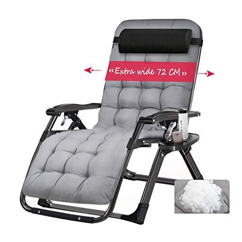 XXINZWU Klappbare Liegestühle Mit Kopfstütze Schwerelosigkeit Stuhl Multifunktionsbalkon Innenhof Camping Picknick Strandkorb Lazy Extra Wide Load 200kg
