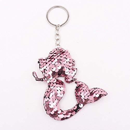 Schlüsselbund Car Home Key Ring Cute Fashion Großzügig Schön Glänzend Persönlichkeit Exquisite Charm Elegant Handytasche Anhänger Schmuck Dekoration, Pink Silver Single Circle