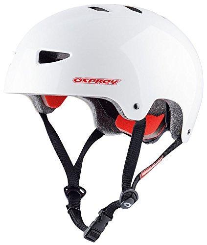Osprey casco da skate e scooter per bambini, BMX, Bambino, Casco, Skate SK5002, White, L