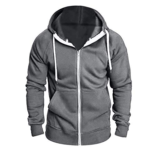 ❤❤LANSKIRT Herren Zipper Kapuzenpullover Sweatjacke Pullover Hoodie Sweatshirt